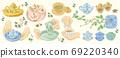 亞洲茶道向量插圖 69220340