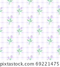 Cute purple tulip flower seamless pattern background 69221475