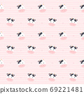 Cute cow seamless pattern background 69221481