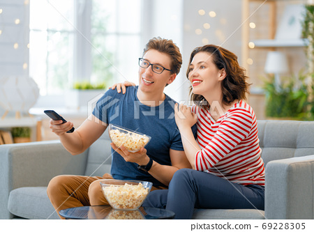 Couple spending time together. 69228305
