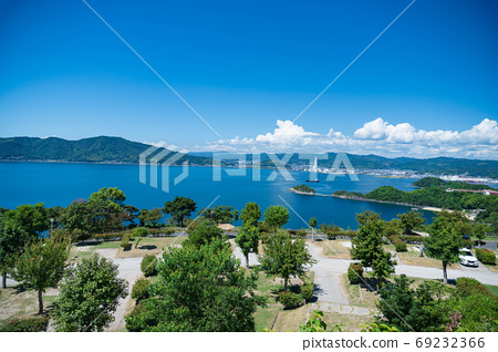 Summer camp Scenery of Kasado Island, Kudamatsu City 69232366