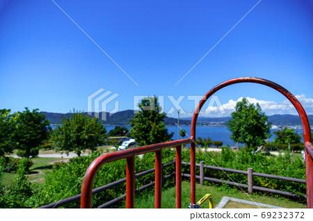 Summer camp Scenery of Kasado Island, Kudamatsu City 69232372