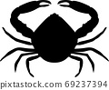 crab silhouette isolated 69237394