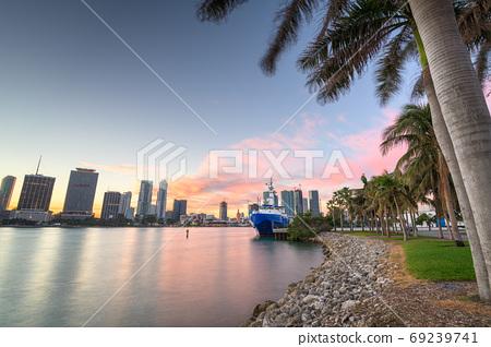 Miami, Florida, USA Skyline on Biscayne Bay 69239741