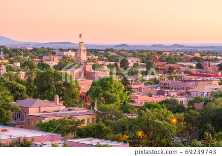 Santa Fe, New Mexico, USA Downtown Skyline 69239743
