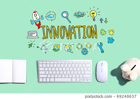 Innovation with a computer keyboard 69248637