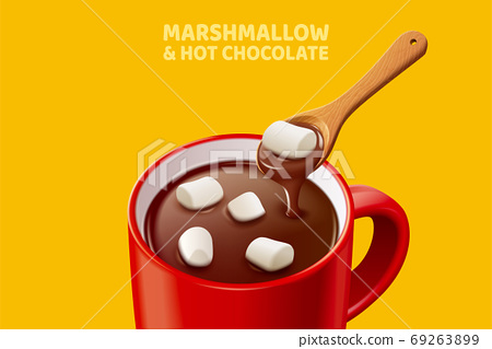 Marshmallow hot chocolate 69263899