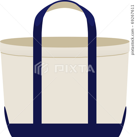 Canvas bicolor tote bag 69267611