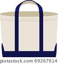 帆布雙色手提袋 69267614