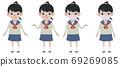 High school girl whole body set 69269085