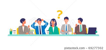 開會的工作人員的插圖 69277302