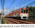 阪神8000系列在芦屋市内町站附近运行 69291331