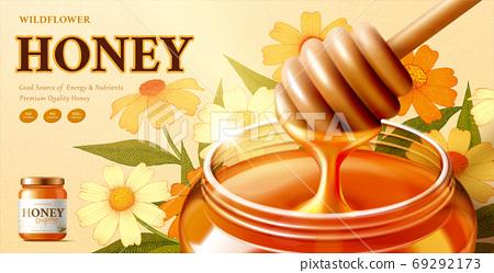 Wildflower honey advertisement 69292173