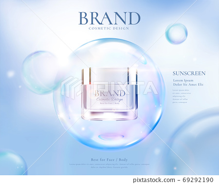 Beauty product ad template 69292190