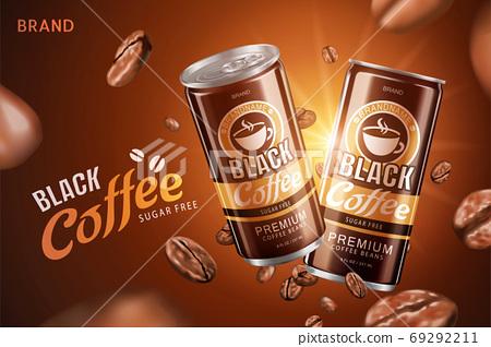 Sugar free black coffee can ad 69292211