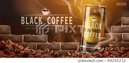 Premium canned black coffee ad 69292212