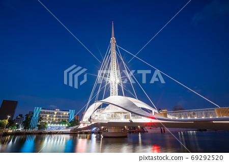 臺灣高雄駁二大港橋Taiwan Kaohsiung Pier Two Dagang Bridge 69292520