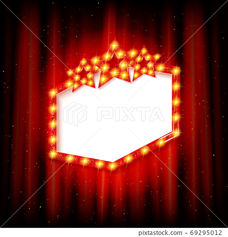 Retro cinema or theater frame 69295012