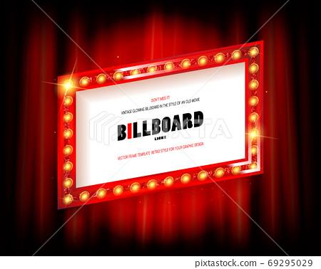 Retro cinema or theater frame 69295029