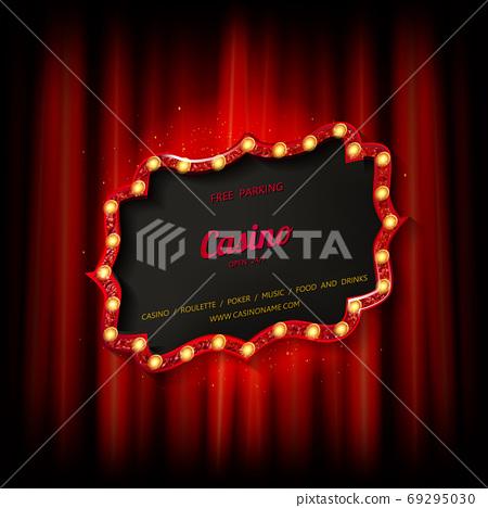 Retro cinema or theater frame 69295030