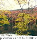 即使在昏暗的秋天天也能享受秋天的色彩 69300812