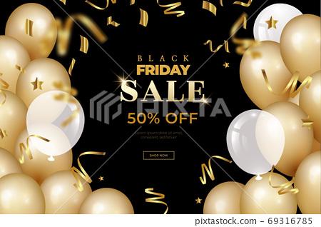 销售购物折扣促销黑色星期五背景 69316785