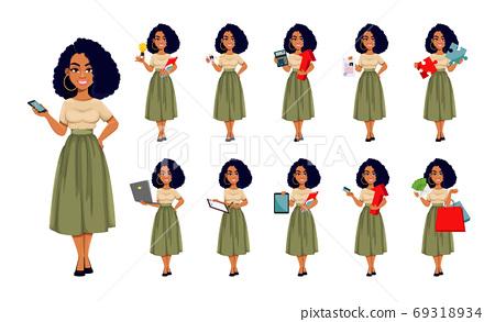 Beautiful African American business woman 69318934