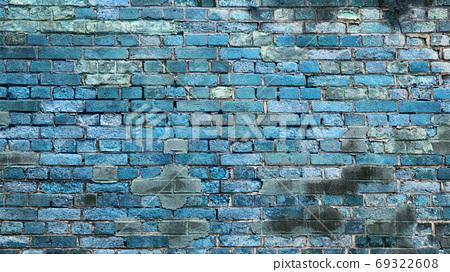 푸른 벽돌의 소재 69322608