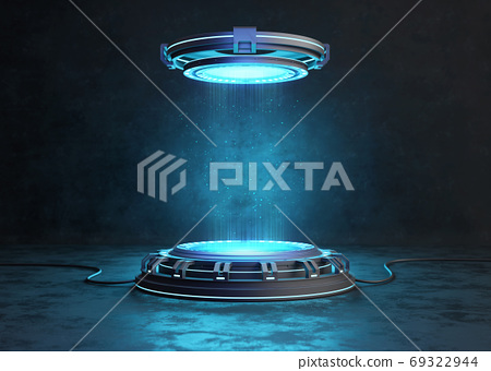 Abstract background, Futuristic pedestal for product  69322944