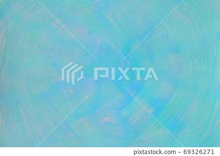 抽象背景蓝色/绿色漩涡状手绘 69326271