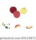 套蘋果堅果和葉子 69329873