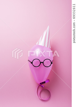 Party concept with pink ballon 69332811