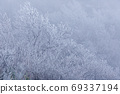 Frost-covered rime fields grown in strong winds 69337194