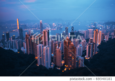 Hong kong from the Victoria peak 69340181