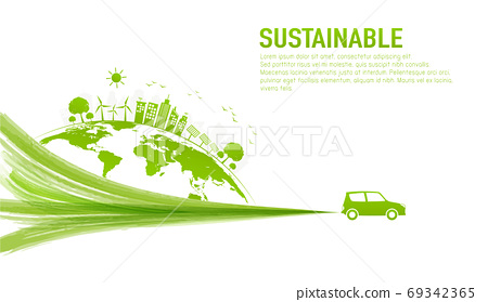 Banner design for sustainable development and eco friendly 69342365