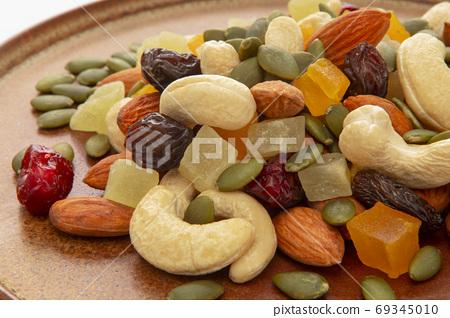 盤子,營養,綜合堅果,プレート、栄養、ミックスナッツ、Plate, mixed nuts, 69345010