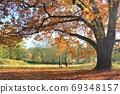 時尚的秋葉約會海外風光美麗的秋天,如圖片傳單 69348157