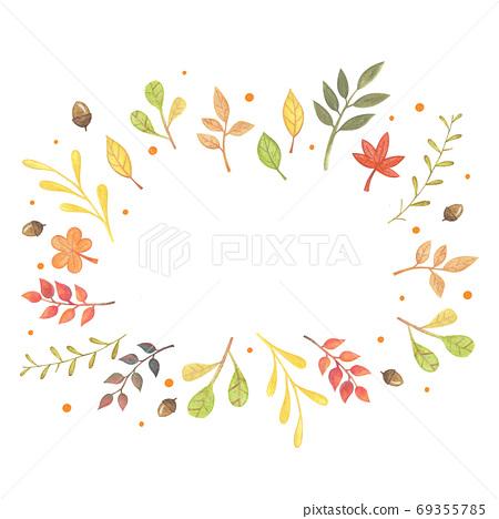 Colorful Falling Autumn Leaves , Fall Frame 69355785