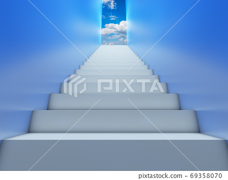stairs leading to the sky 69358070