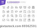 E-Commerce Line Icons. Editable Stroke. Pixel Perfect. 69362501