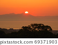 Sunrise of the Ariake Sea from a hill 69371903