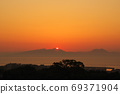 Sunrise of the Ariake Sea from a hill 69371904
