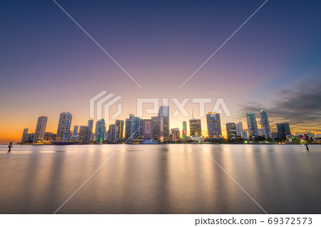 Miami, Florida, USA Downtown Skyline on the Bay 69372573