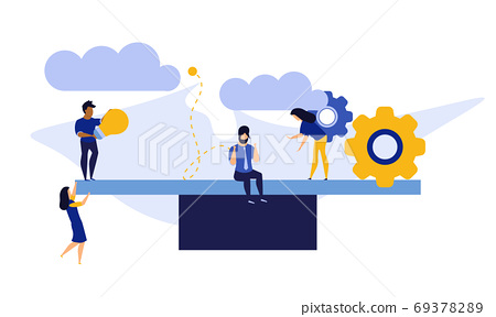 Comparison employee business people vector illustration. Advocat 69378289