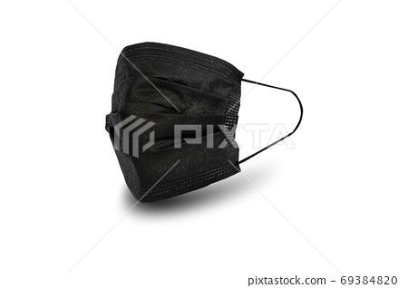 Black sanitary napkin mask. 69384820