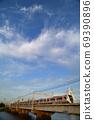 Toei Subway 5500 series crossing the Nakagawa Bridge 69390896