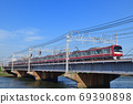 Keikyu 1000 series crossing the Nakagawa Bridge 69390898