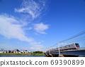 Keisei Electric Railway 3000 series crossing the Nakagawa Bridge 69390899