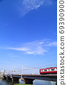 Keikyu train crossing the Nakagawa Bridge 69390900