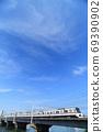 Toei Subway Series 5300 train crossing the Nakagawa Bridge 69390902